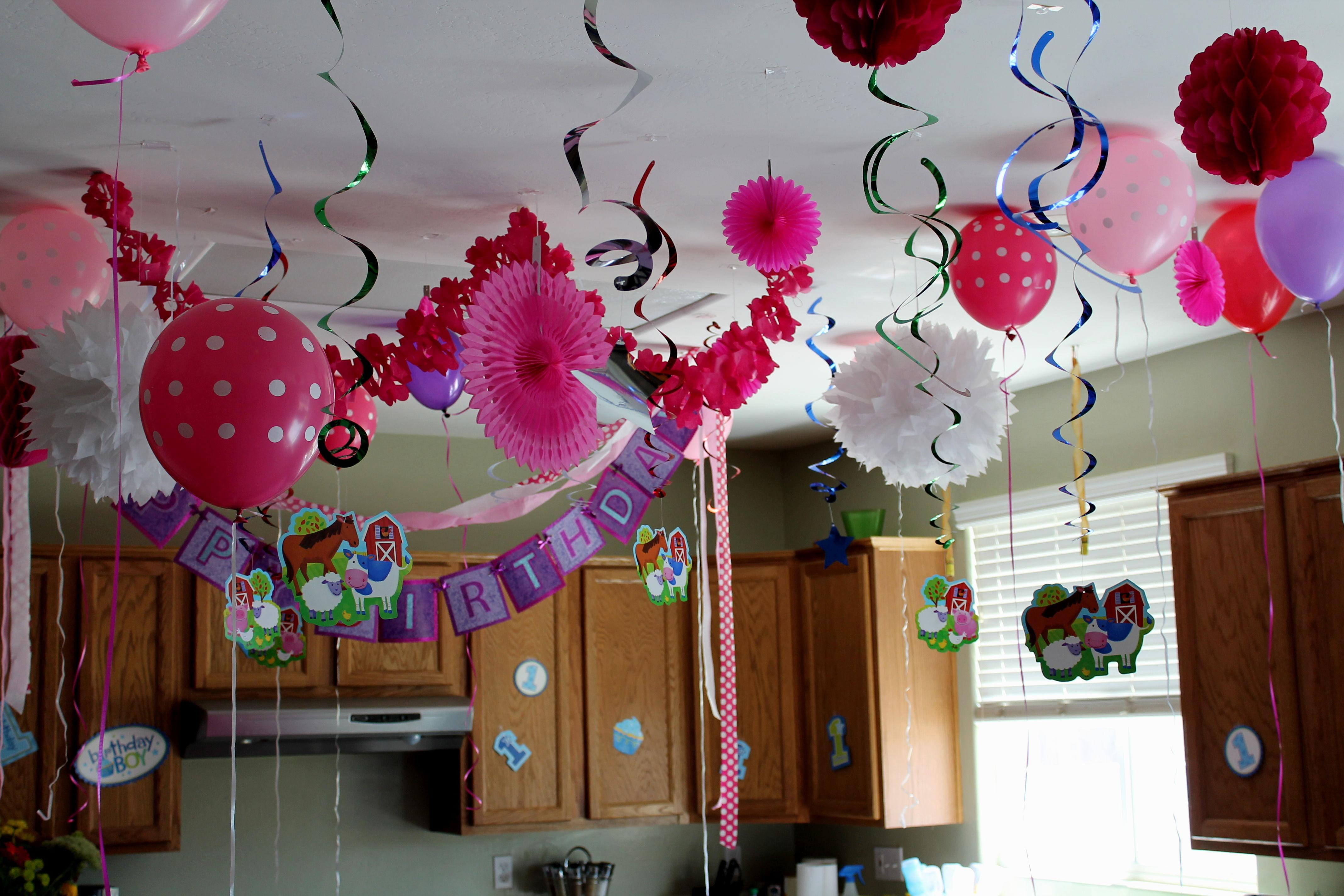 Simple Balloon Decoration Ideas Birthday Party Home