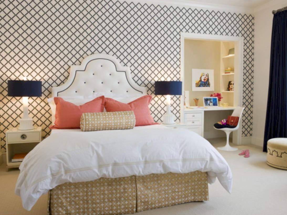 Simple Bedroom Design Ideas Gold Accents Round Decor