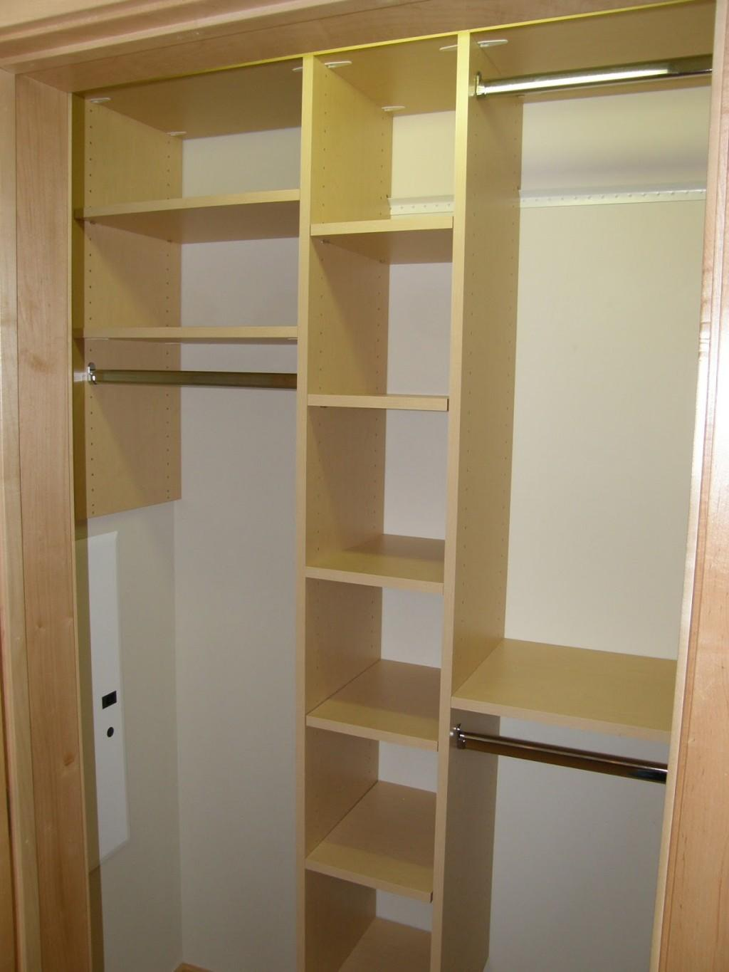 Simple Bedroom Gold Closet Storage Shelving Ideas