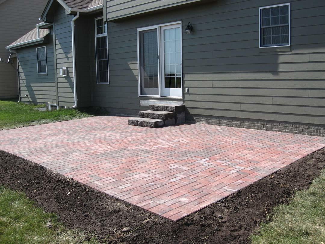 Simple Brick Paver Patio Designs Modern Outdoor