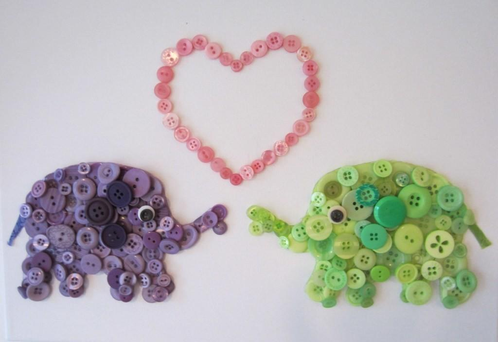 Simple Button Craft Project Kids Art Projects