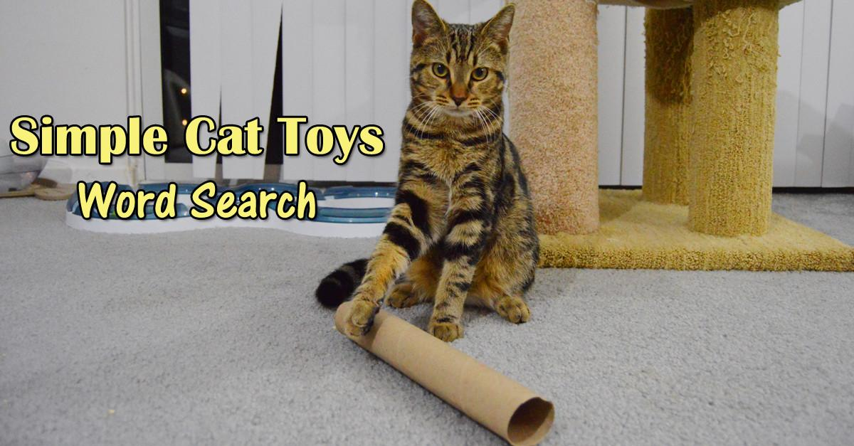 Simple Cat Toys Word Search Playful Kitty