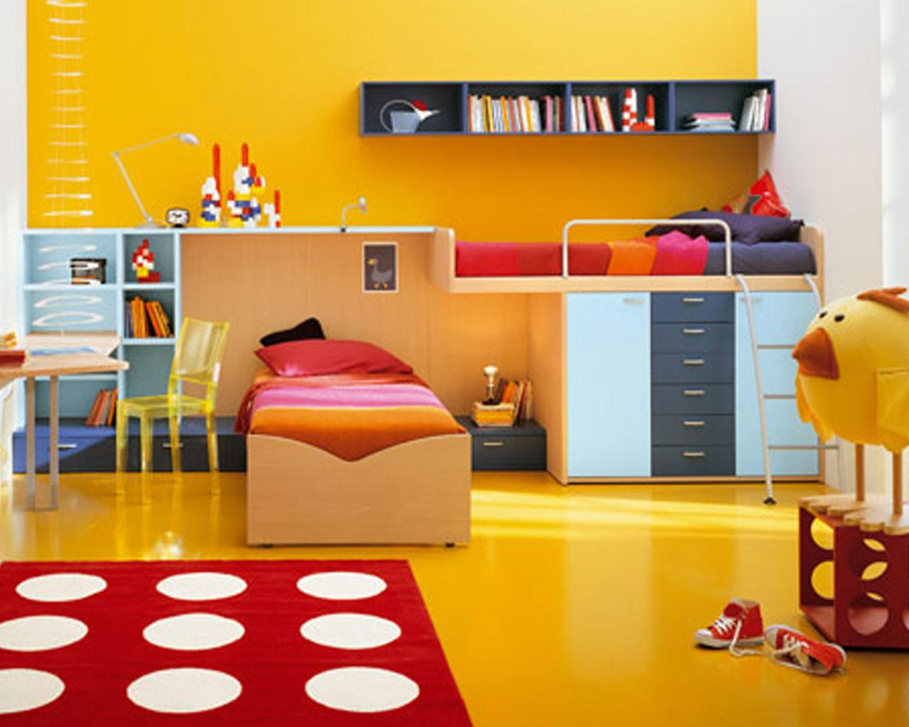 Simple Cool Bedroom Ideas Kids Home Decorating