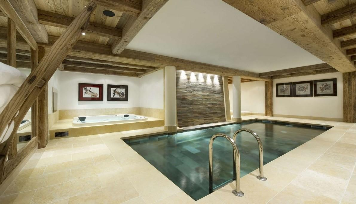 Simple Designed Small Pool Designs Installed Inside House