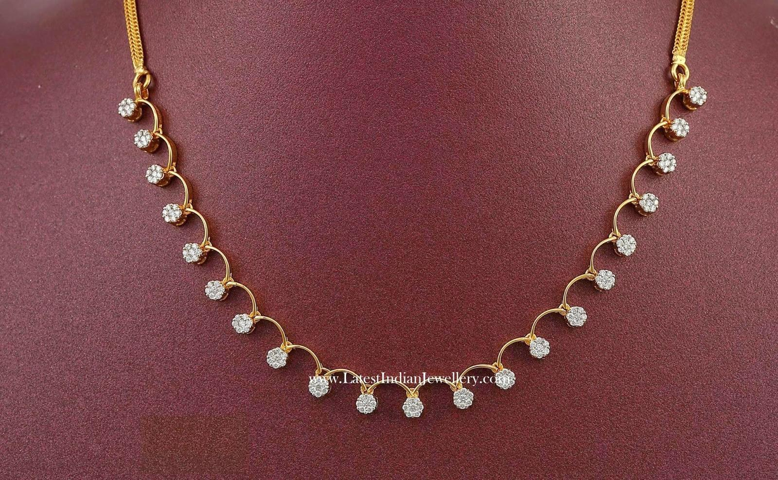 Simple Diamond Necklace Designs Lakh