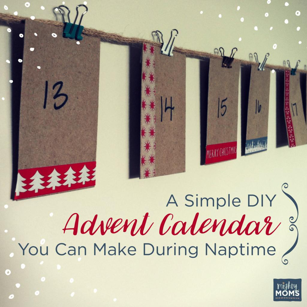 Simple Diy Advent Calendar Can Make During Naptime