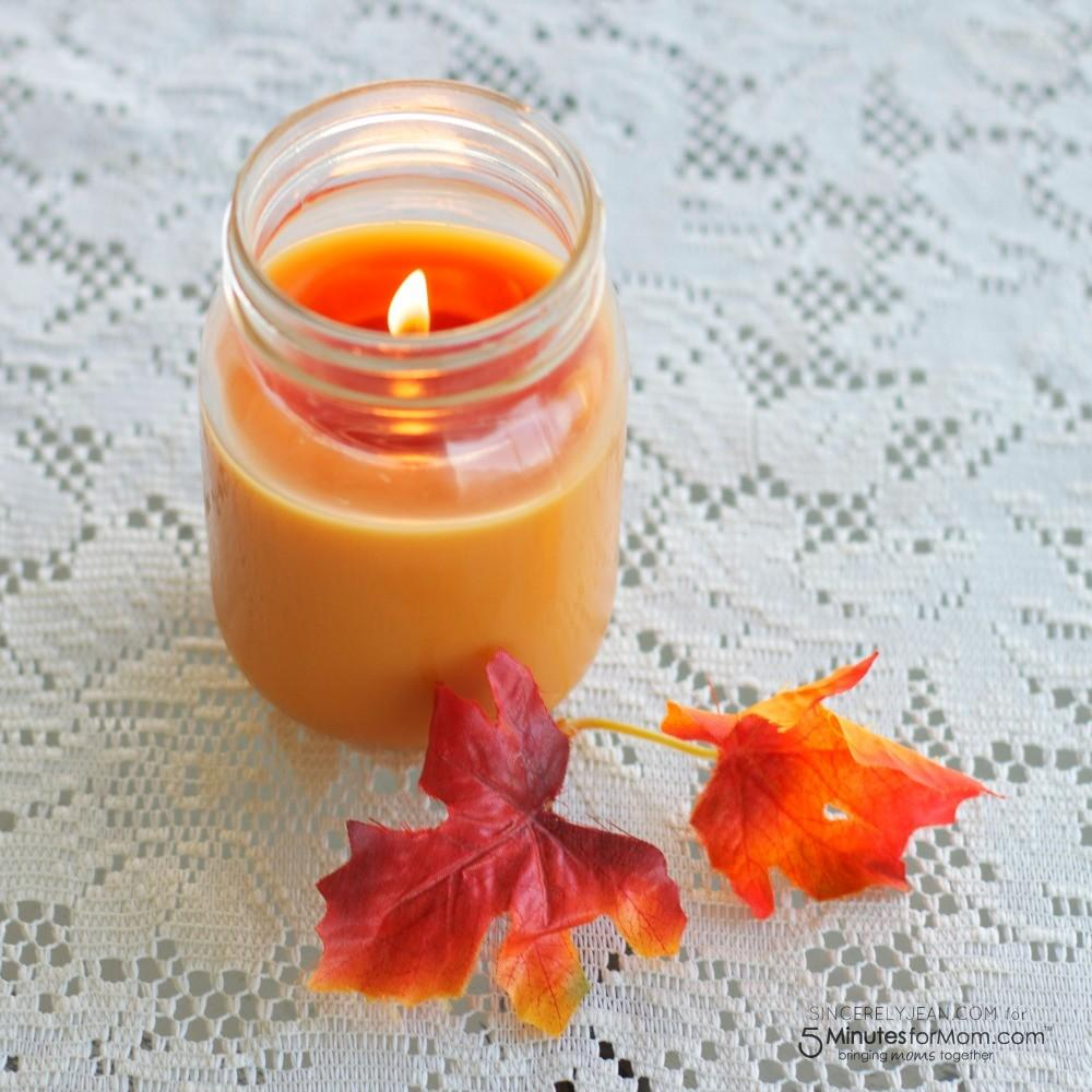 Simple Diy Fall Candle Minutes Mom