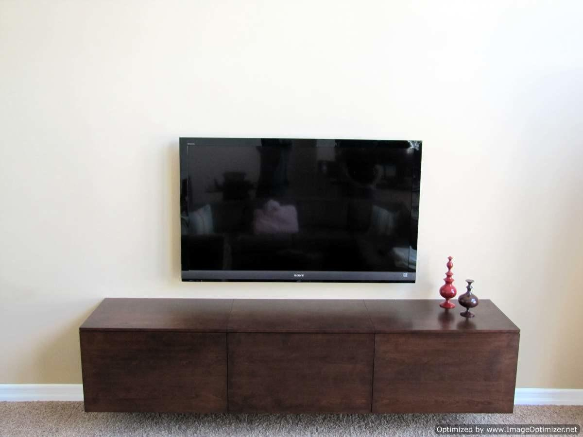 Simple Diy Floating Media Cabinets Storage Howiezine