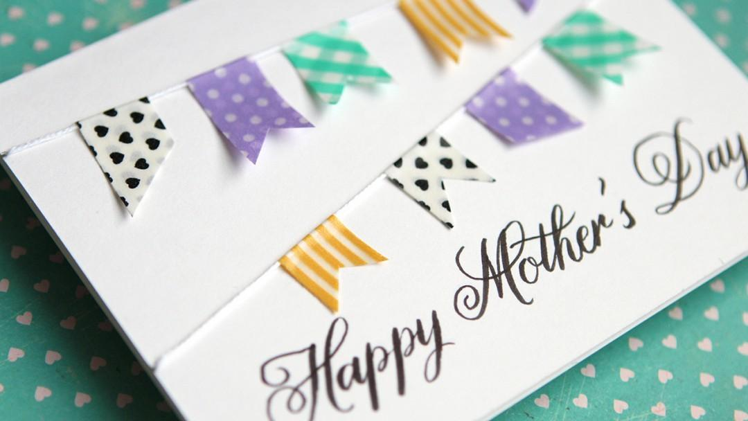 Simple Diy Mother Day Card Stamping