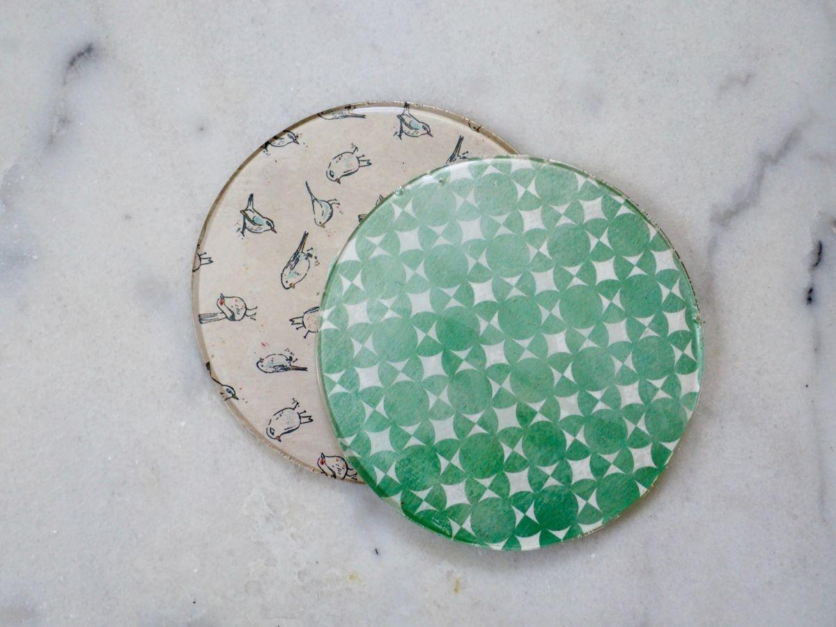 Simple Diy Patterned Coasters Using Resin Healthy Home