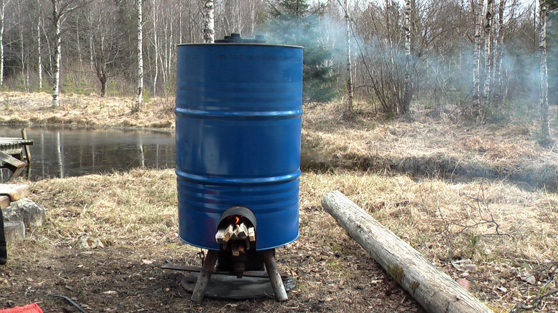 Simple Diy Rocket Stove Producing Hot Water Food