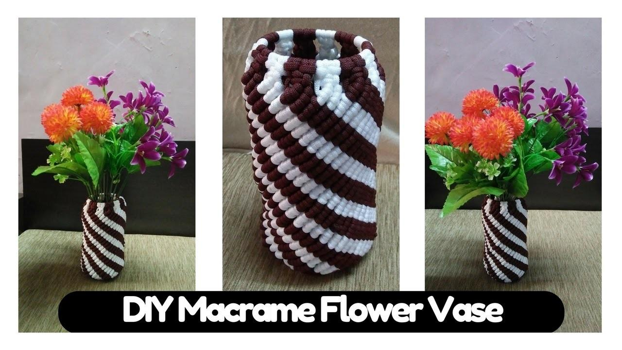 Simple Diy Tutorial Macrame Flower Vase