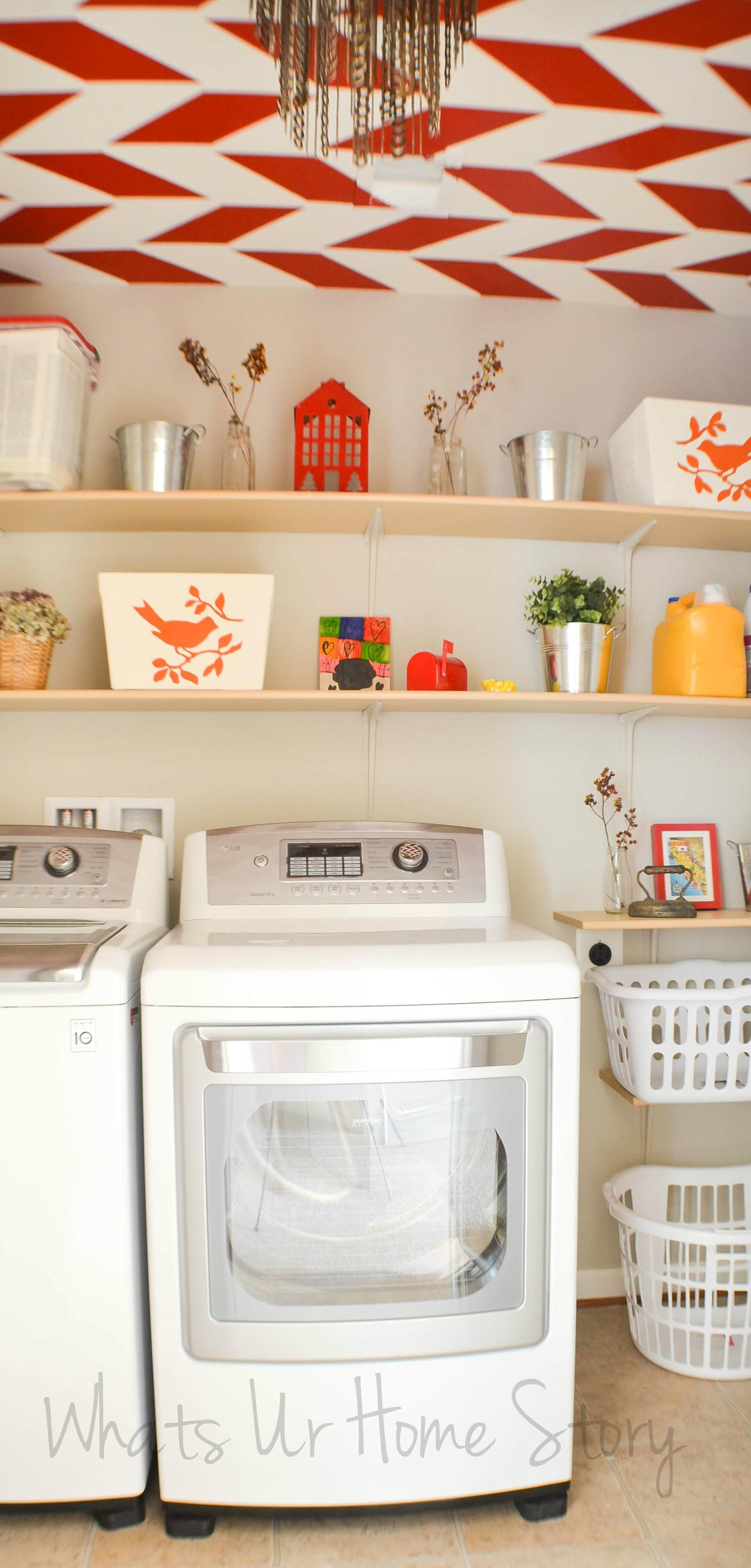 Simple Diy Wall Shelves Laundry Room Whats