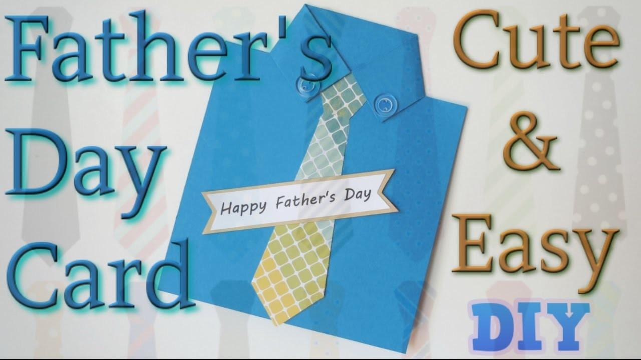 Simple Easy Handmade Father Day Card Shirt Tie