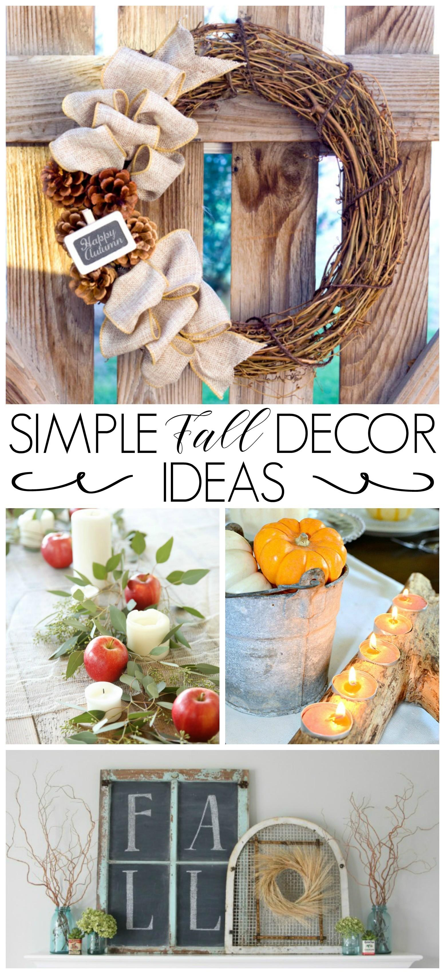 Simple Fall Decor Ideas Fox Hollow Cottage