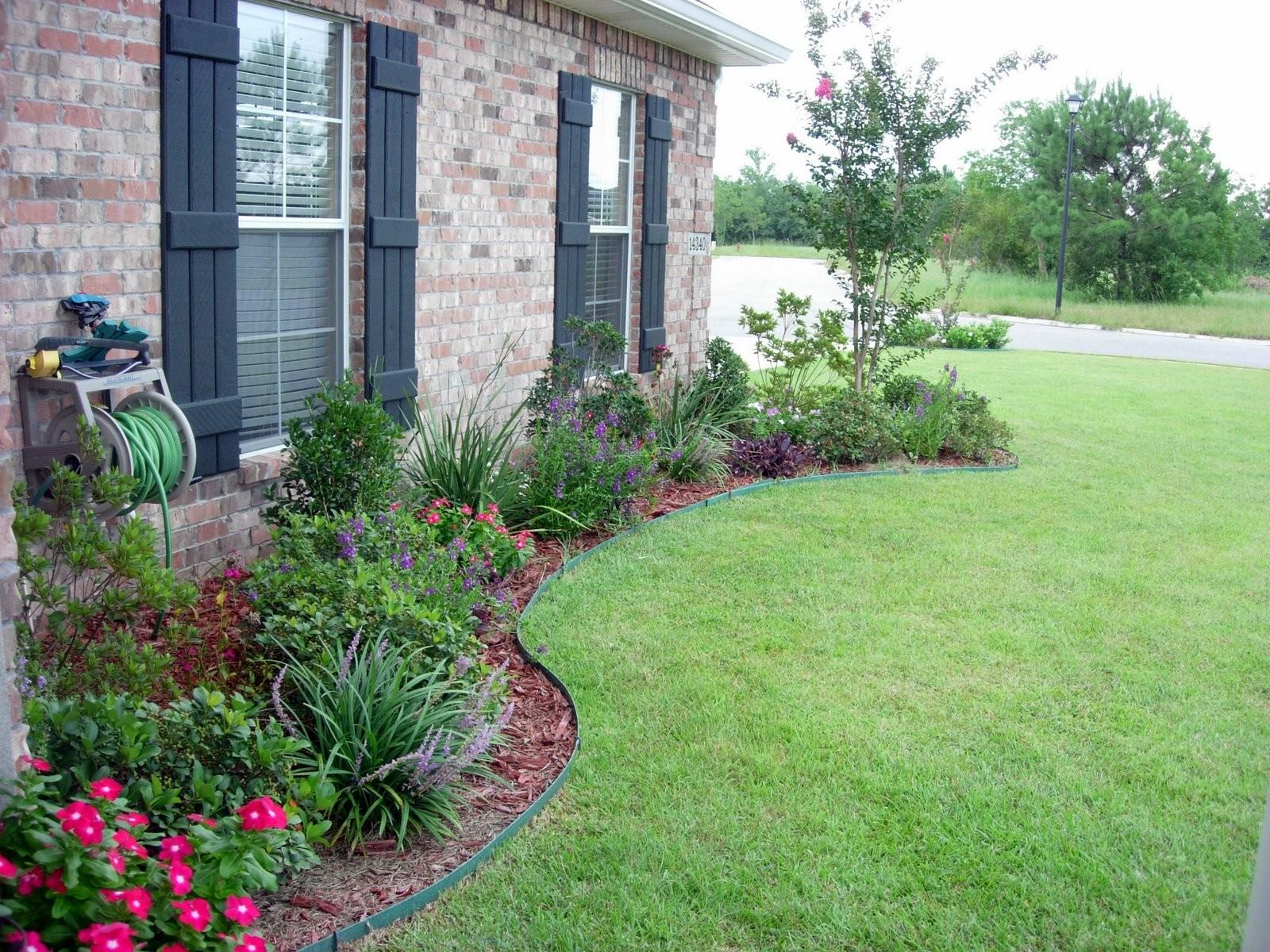 Simple Flower Bed Ideas Designs Front House