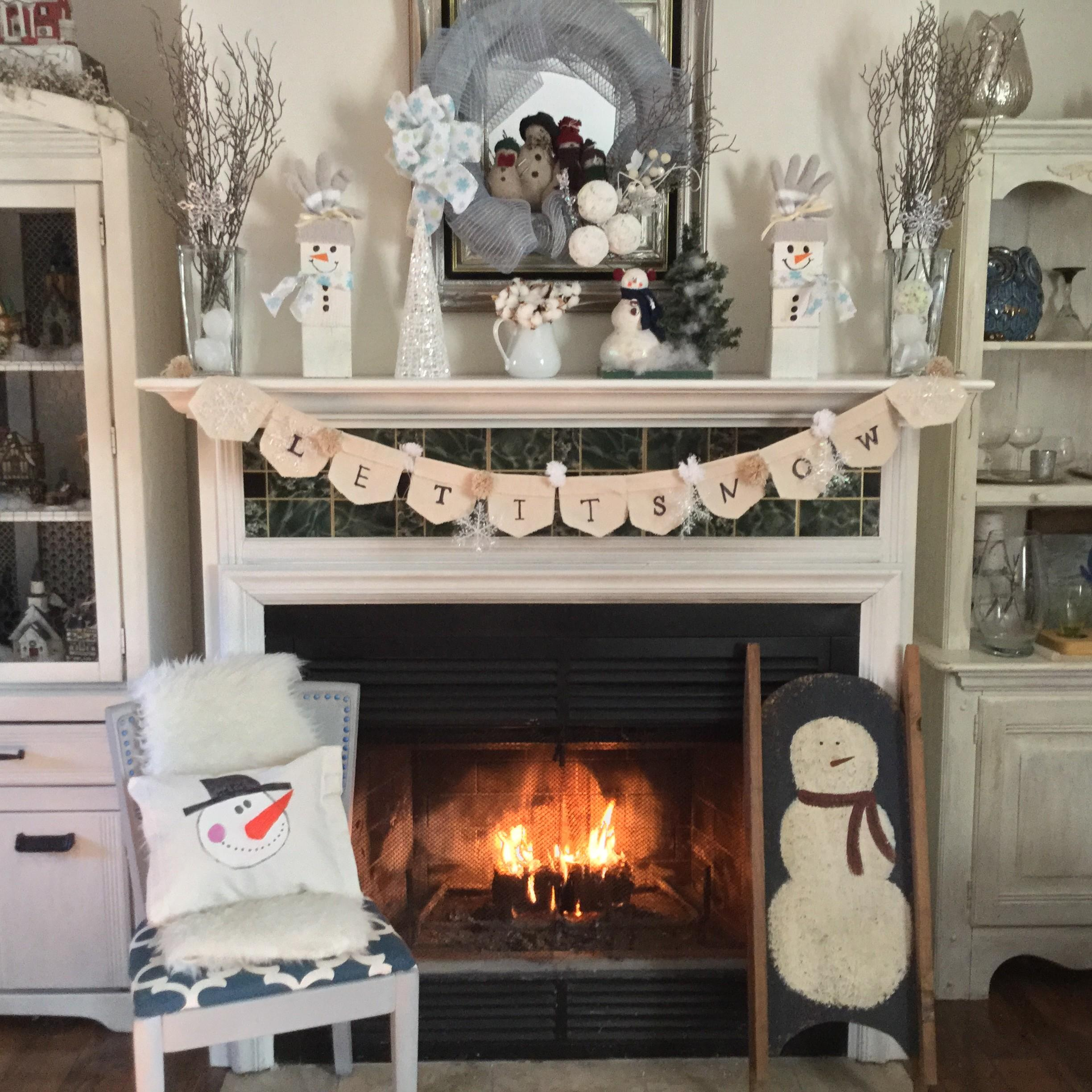 Simple Ideas Fun Winter Snowman Mantel Our Crafty Mom