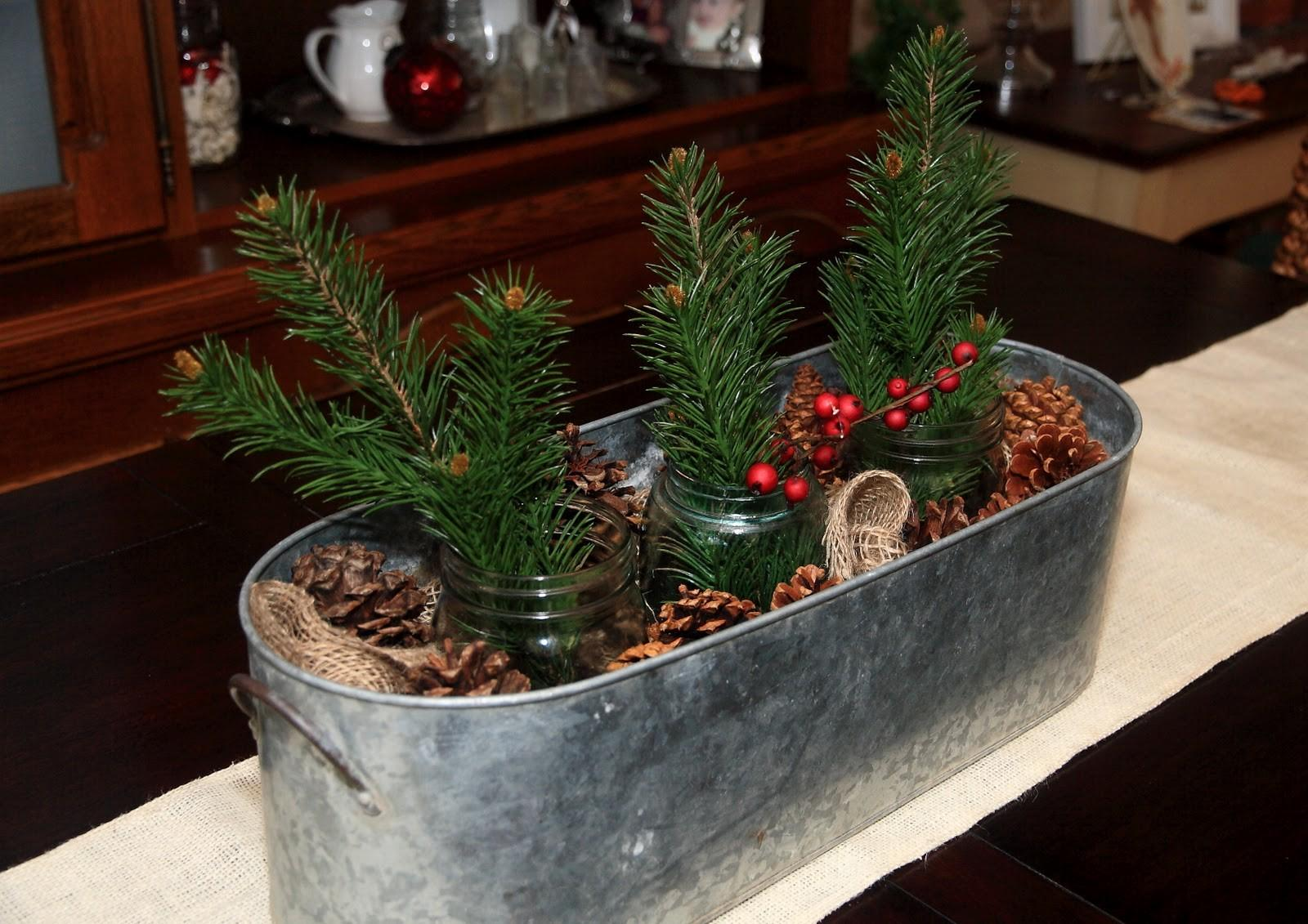 Simple Rustic Christmas Centerpiece Yellow Bliss Road