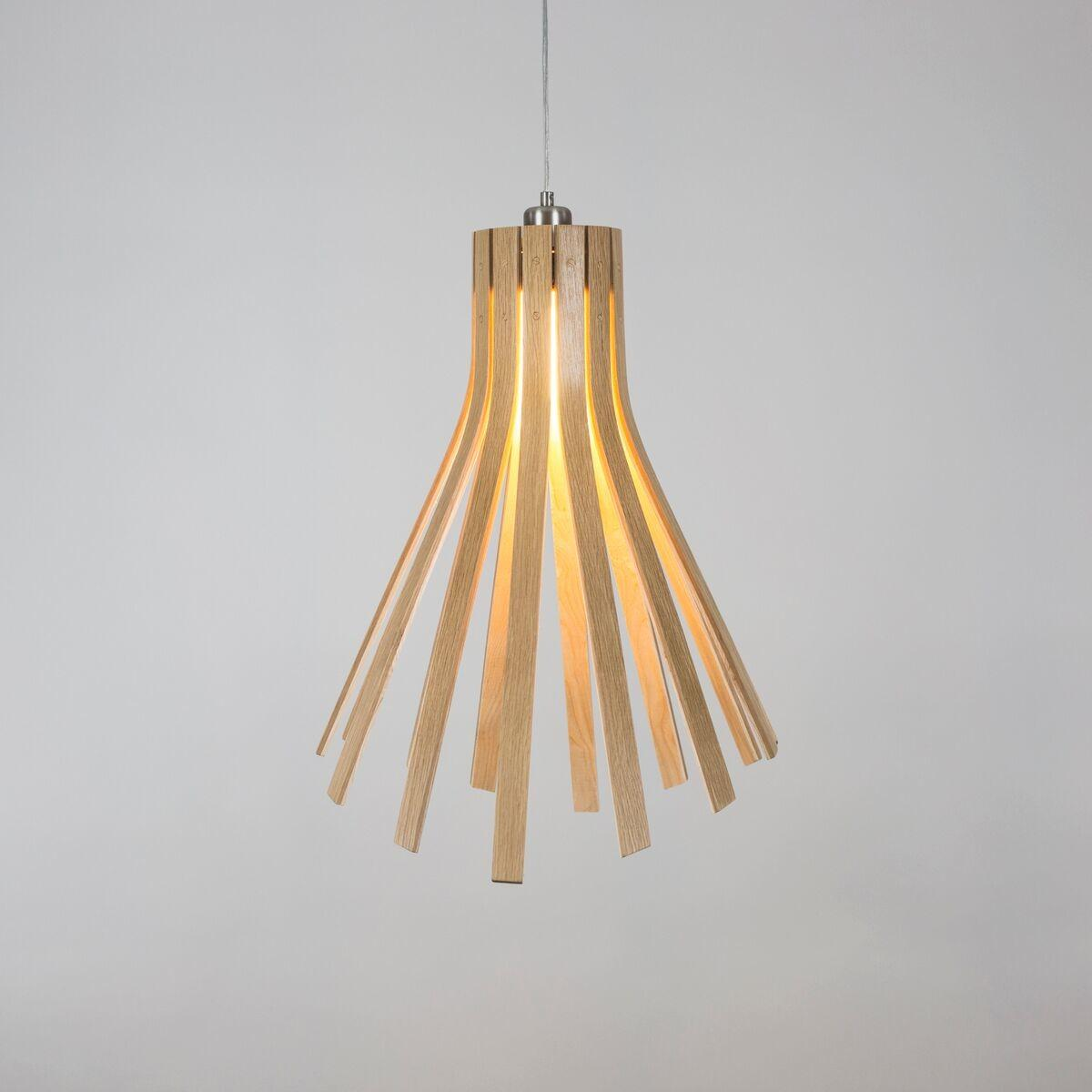 Simple Sculptural Wooden Pendant Lights