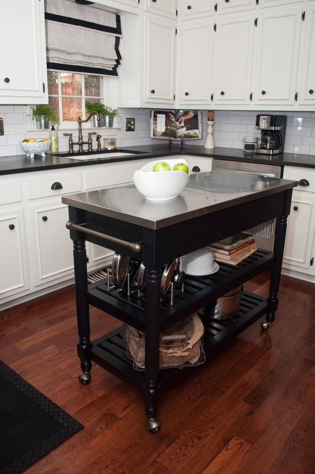 Simple Shaped Wooden Kitchen Cabinetry Island Ideas
