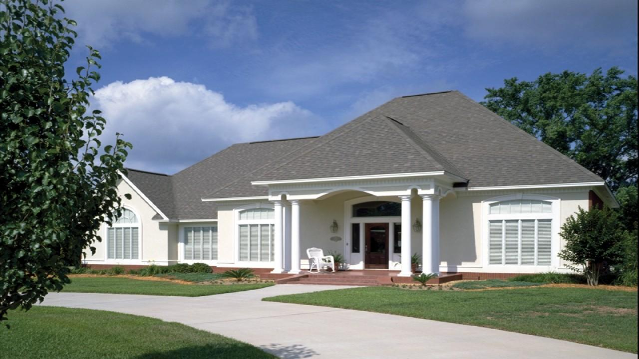 Simple Single Story Ranch Style Stucco