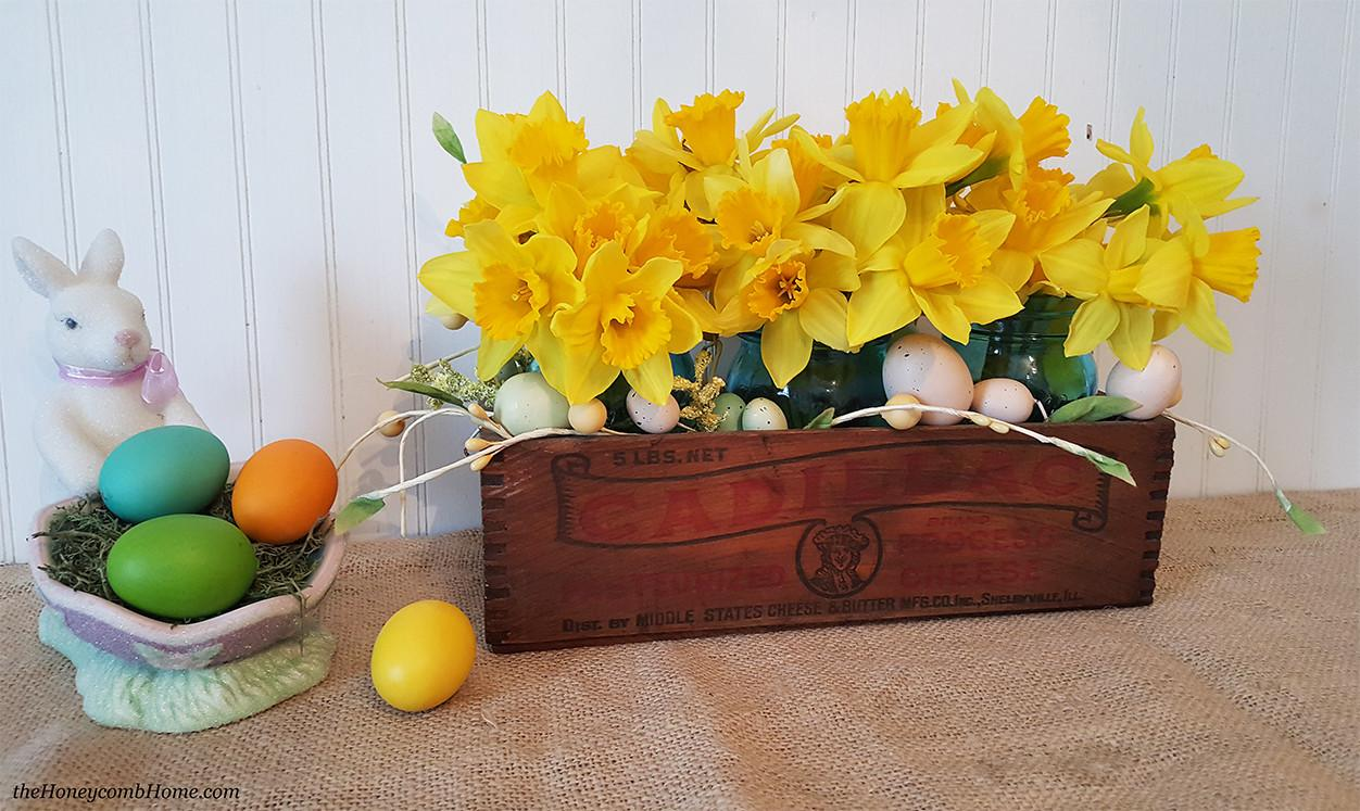 Simple Spring Centerpiece Honeycomb Home