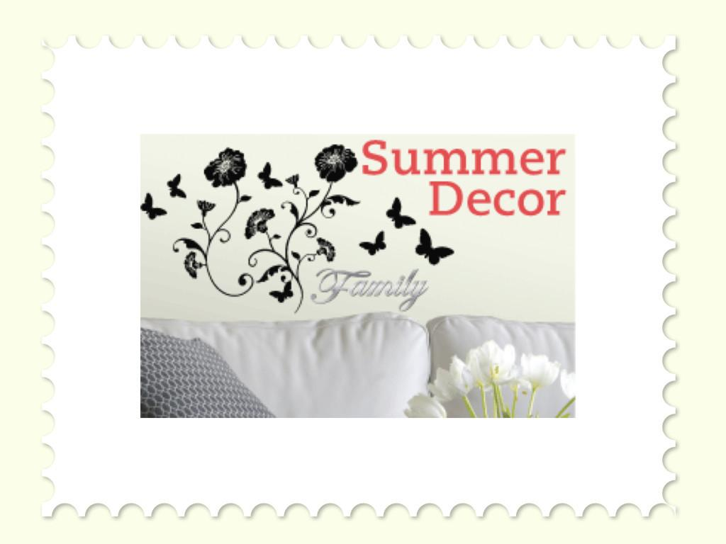 Simple Summer Decor Ideas Wall Decals Partyideapros
