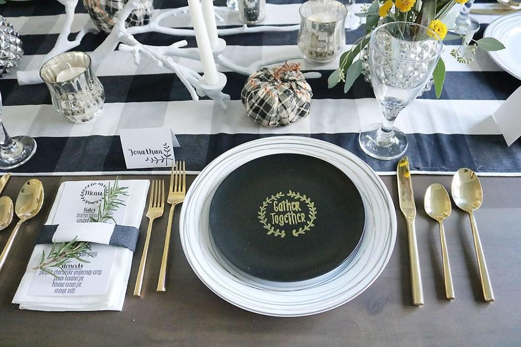Simple Thanksgiving Table Setting Decorations Mad