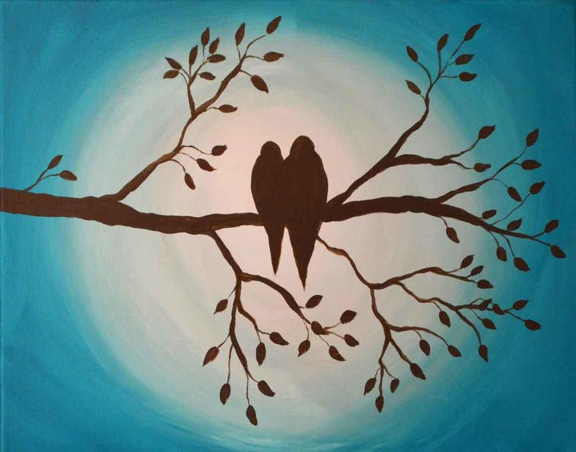 Simple Tree Branches Painting Pixshark