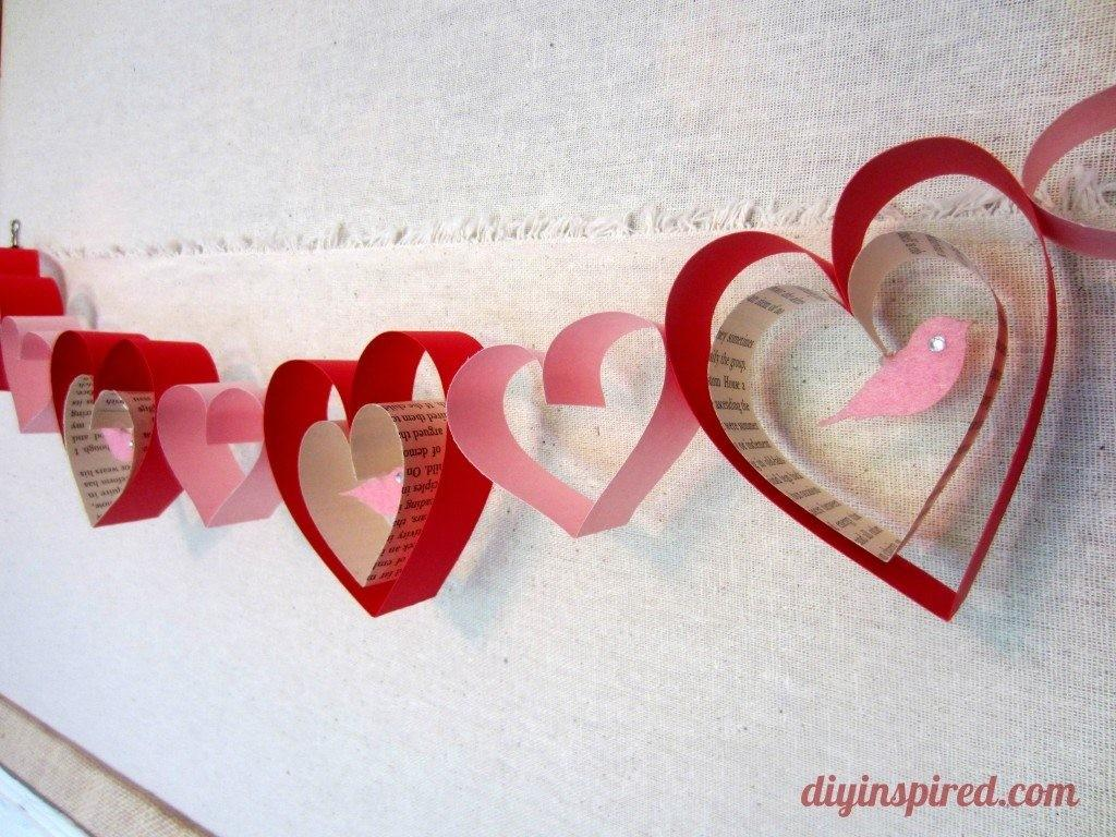 Simple Valentine Garland Craft Spot
