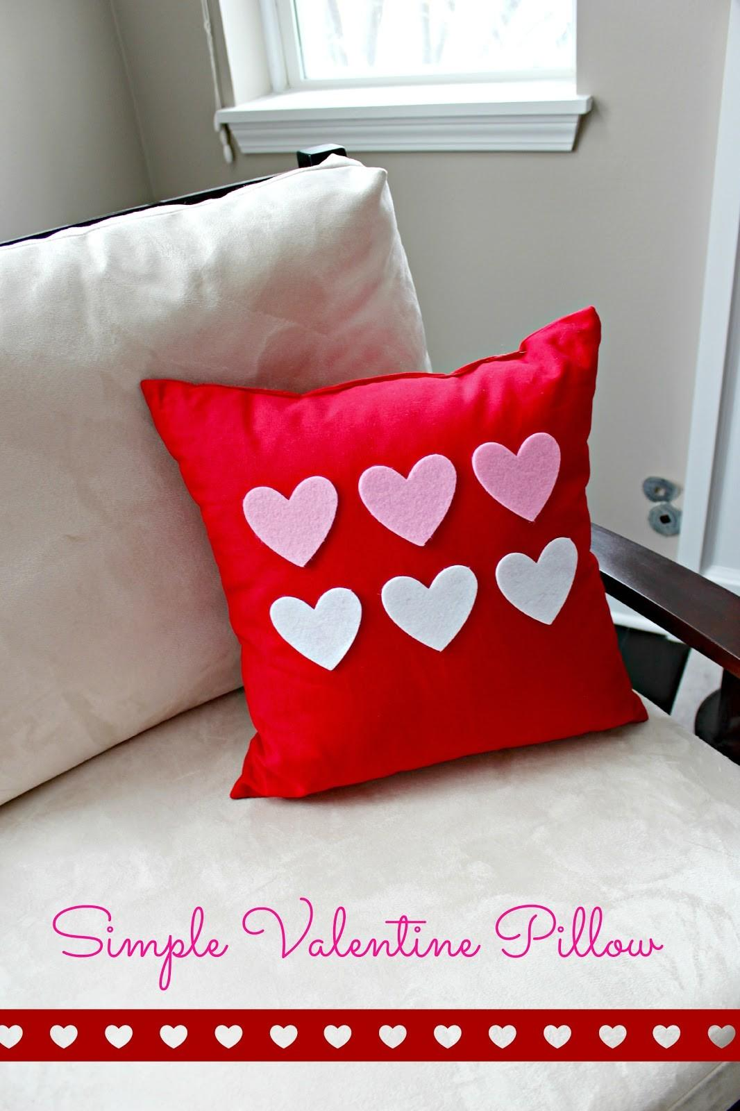 Simple Valentine Pillow Decor Delightfully Noted