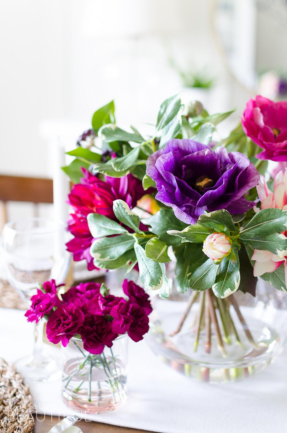 Simple Vibrant Mother Day Table Setting Burst