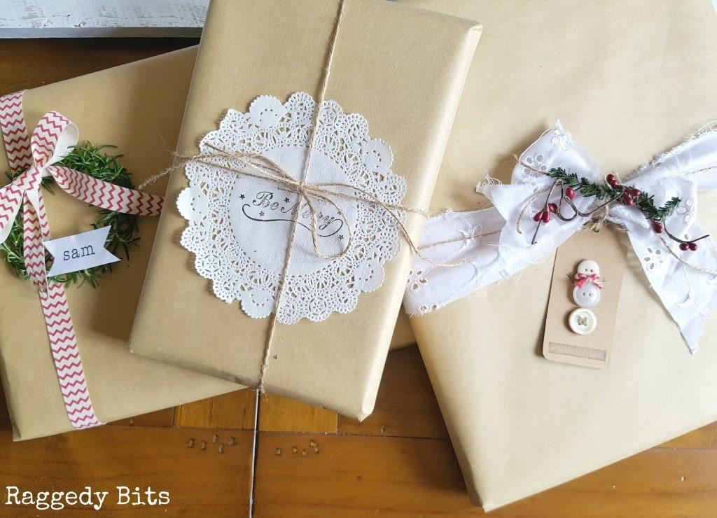 Simple Vintage Christmas Gift Wrapping Ideas