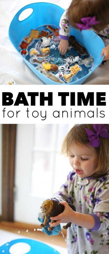 Simple Water Play Bath Time Toy Animals Can Teach