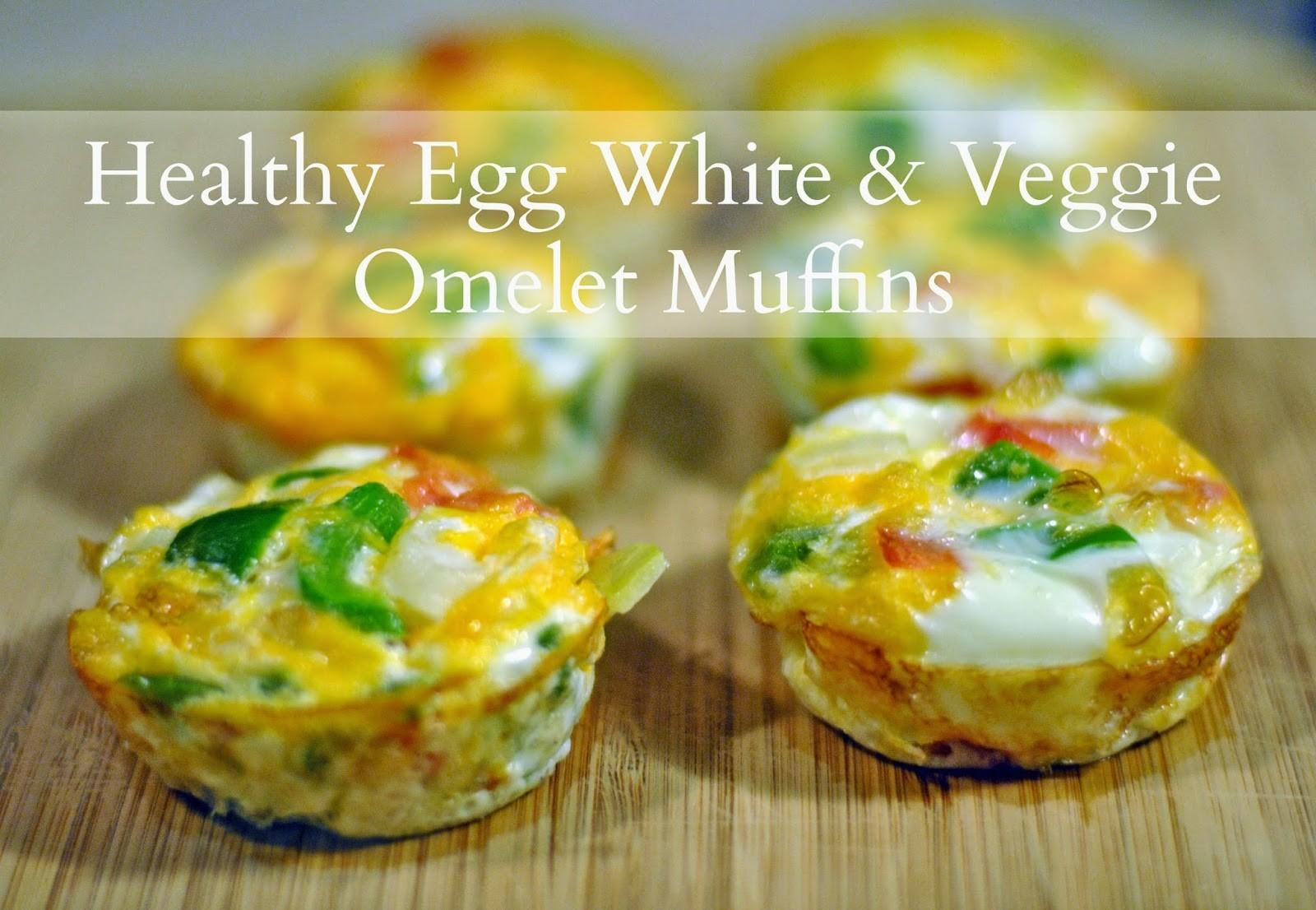 Simply Anchored Healthy Egg White Veggie Omelet Muffins