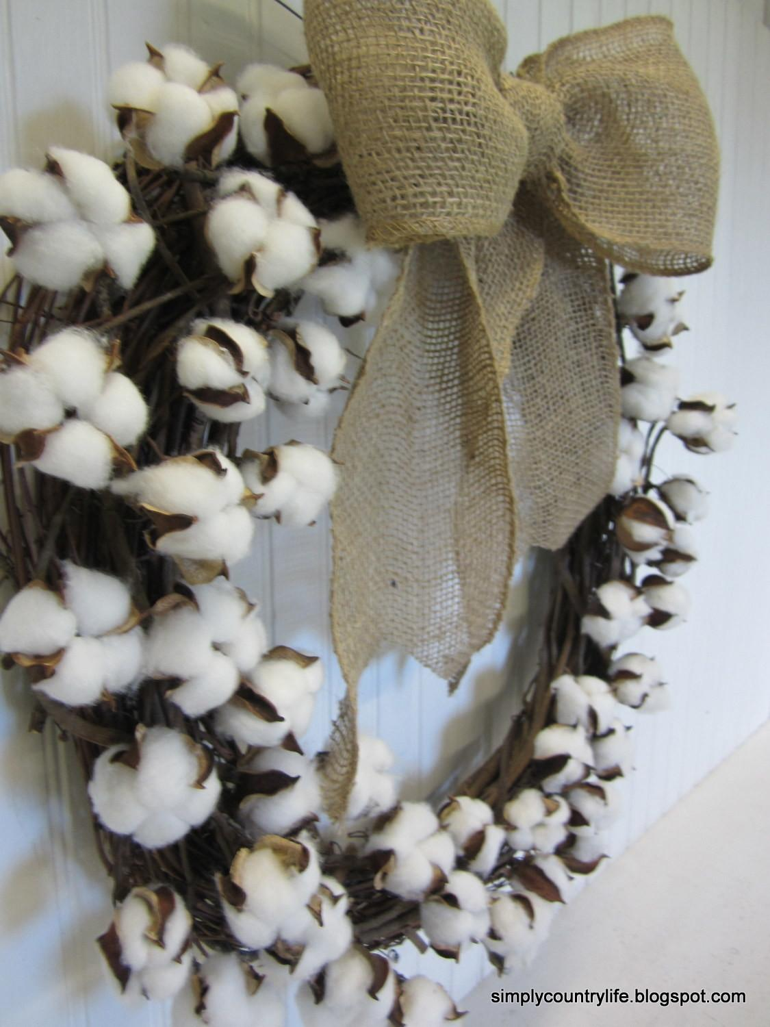 Simply Country Life Make Your Own Cotton Boll