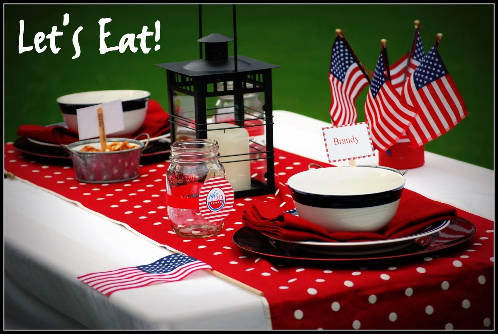 Simply Creative Insanity July 4th Tablescape