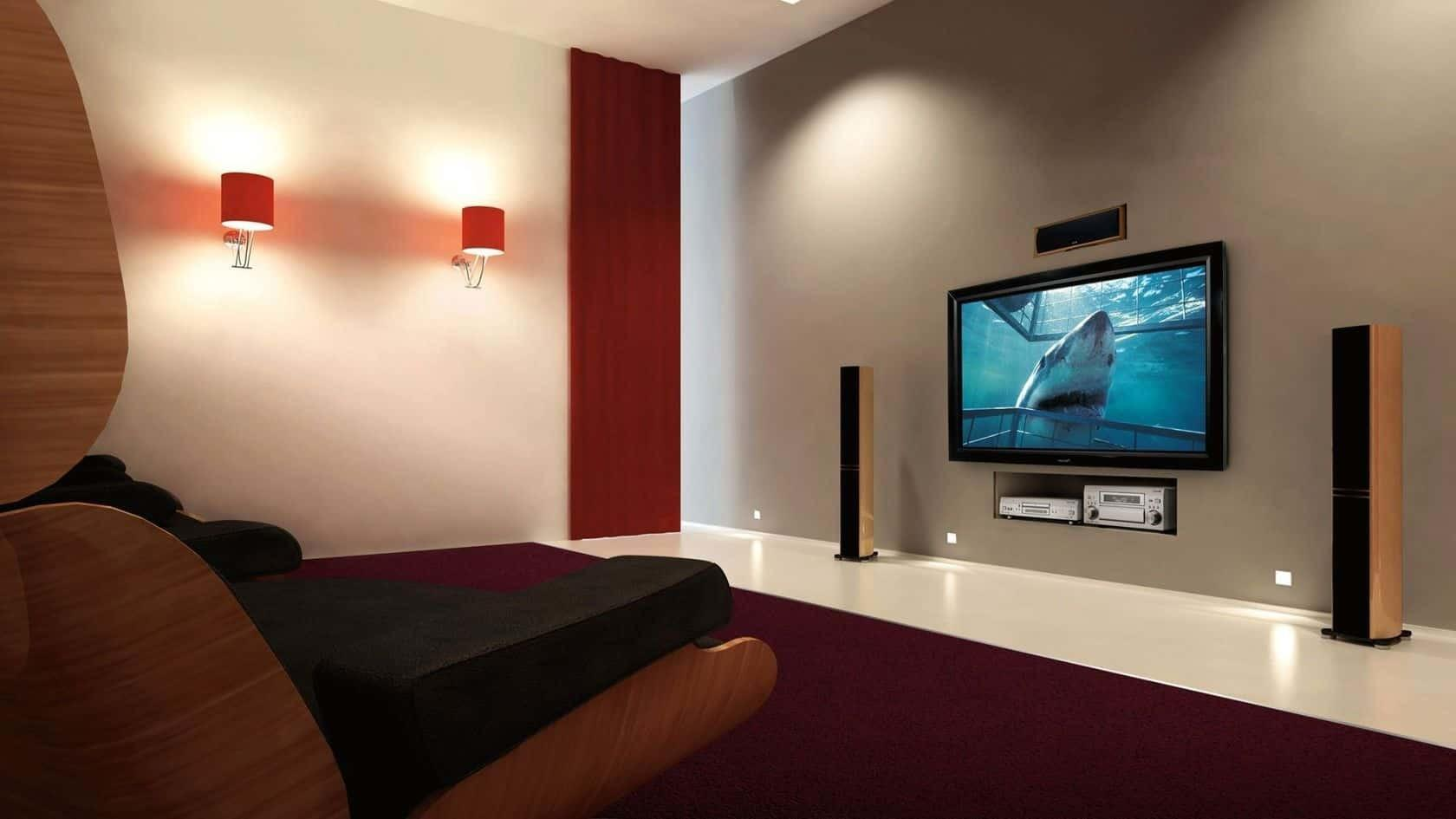 Simply Design Home Theater Basement Comfy