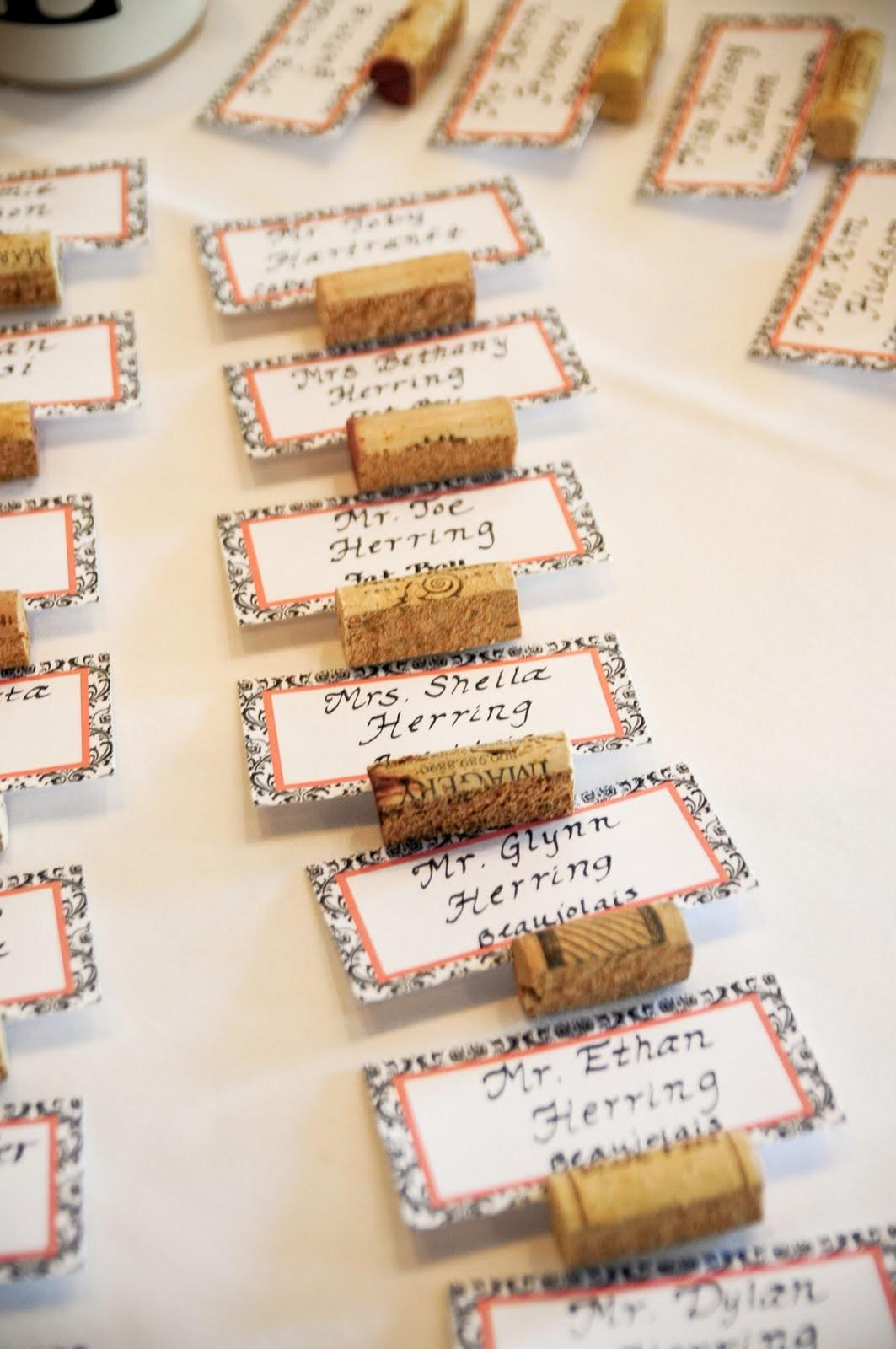 Simply Made Love Wine Cork Place Card Holders