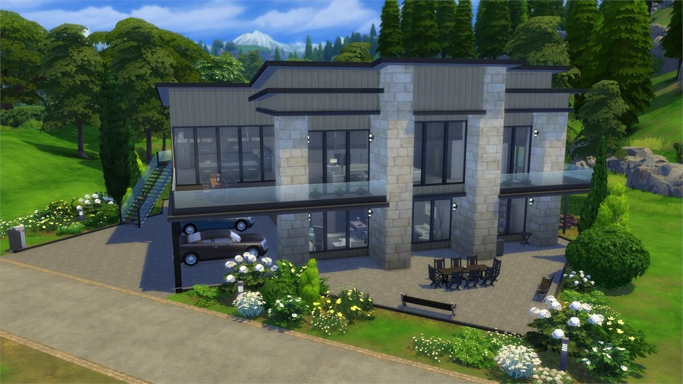 Sims Spotlight Modern Family Homes