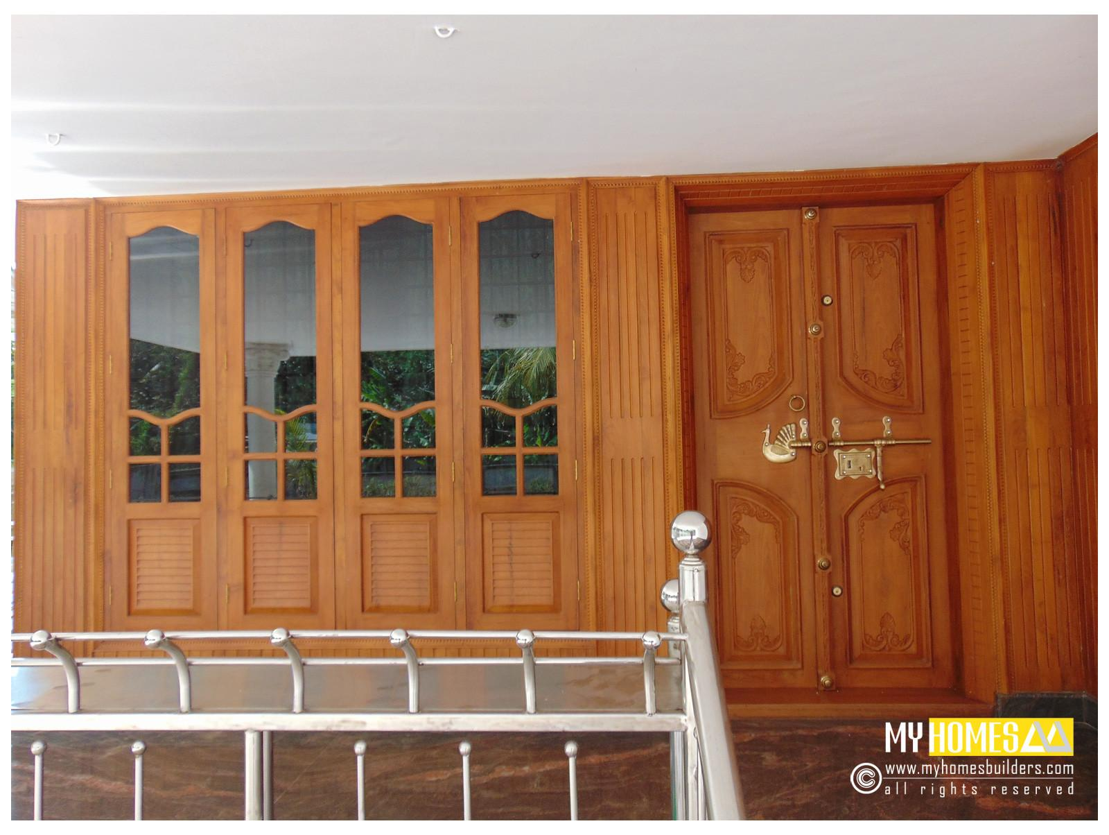 Single Double Style Door Design Kerala House India