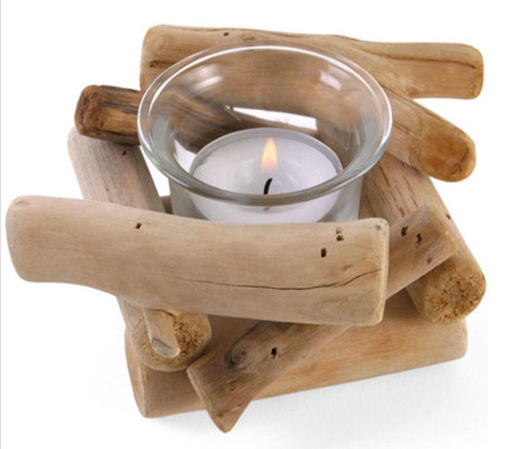 Single Driftwood Tealight Candle Holder