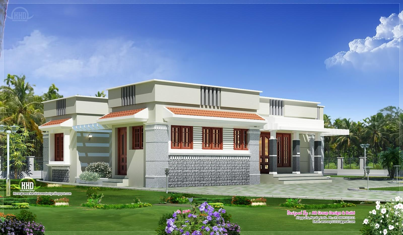 Single Floor Budget Home Design 1300 Feet Kerala