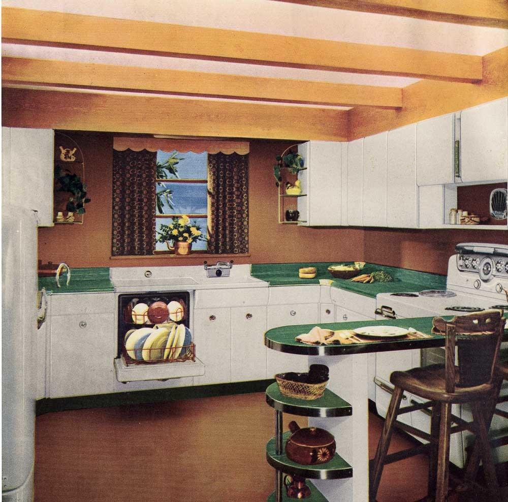 Six Kitchen Designs 1953 Avco American Kitchens