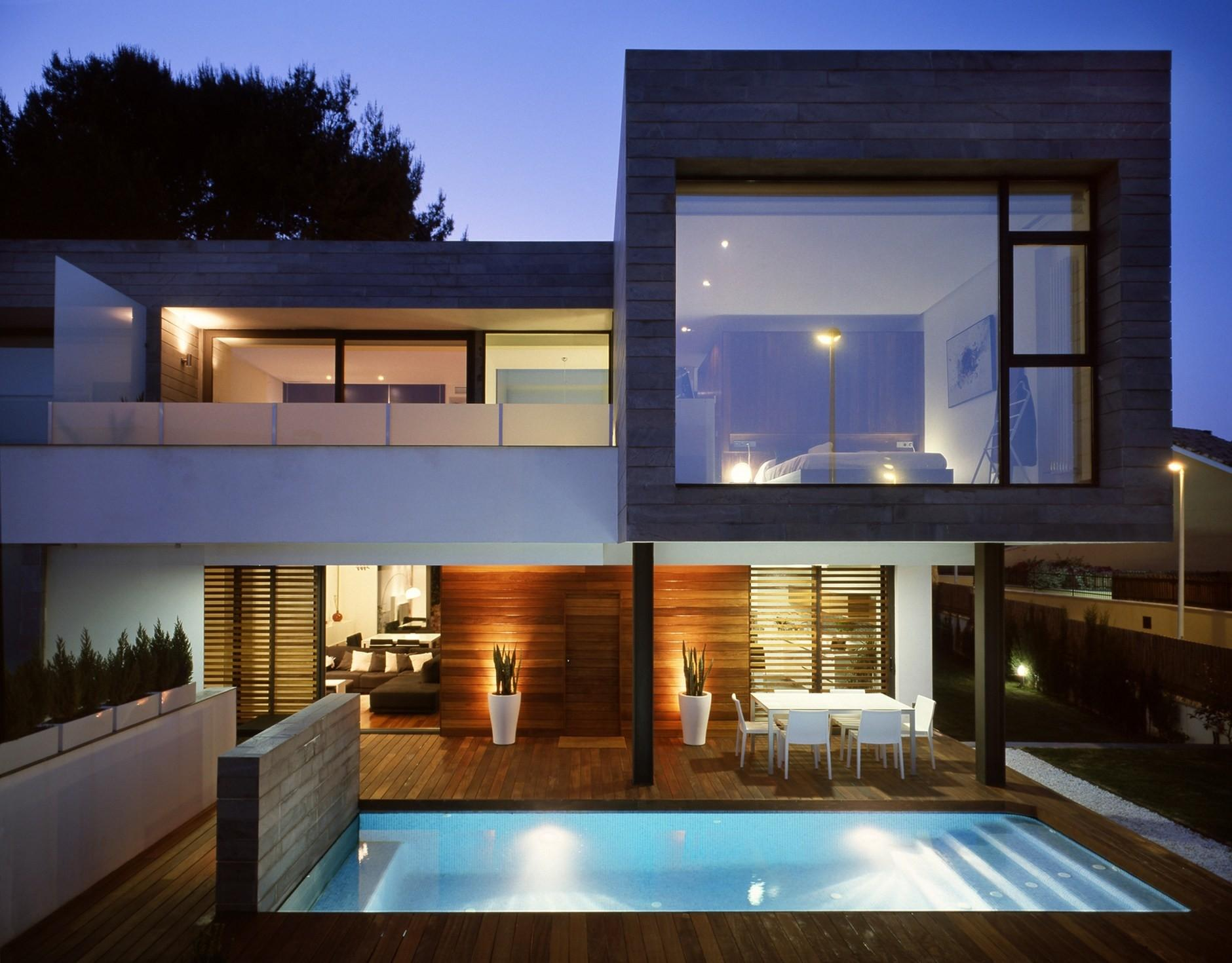 Six Semi Detached Houses Isolated House Rocafort