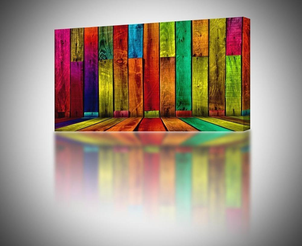 Sizes Colorful Abstract Boards Canvas Print Home Wall