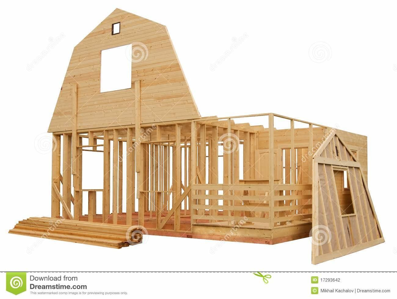 Skeleton Wooden House Stock Photography