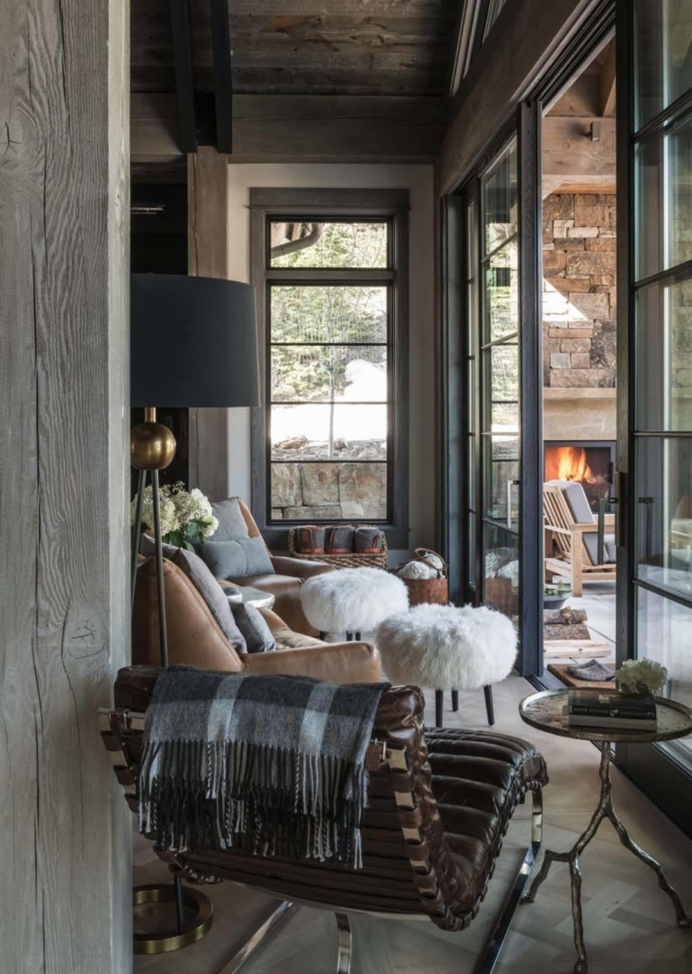 Ski Out Chalet Montana Rustic Modern Styling