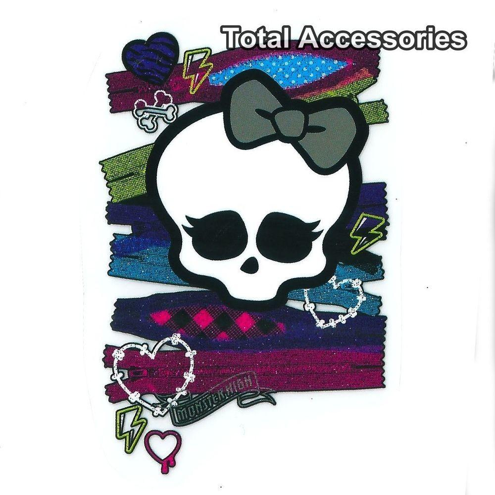 Skull Zips Graffiti Diy Iron Shirt Glitter Heat