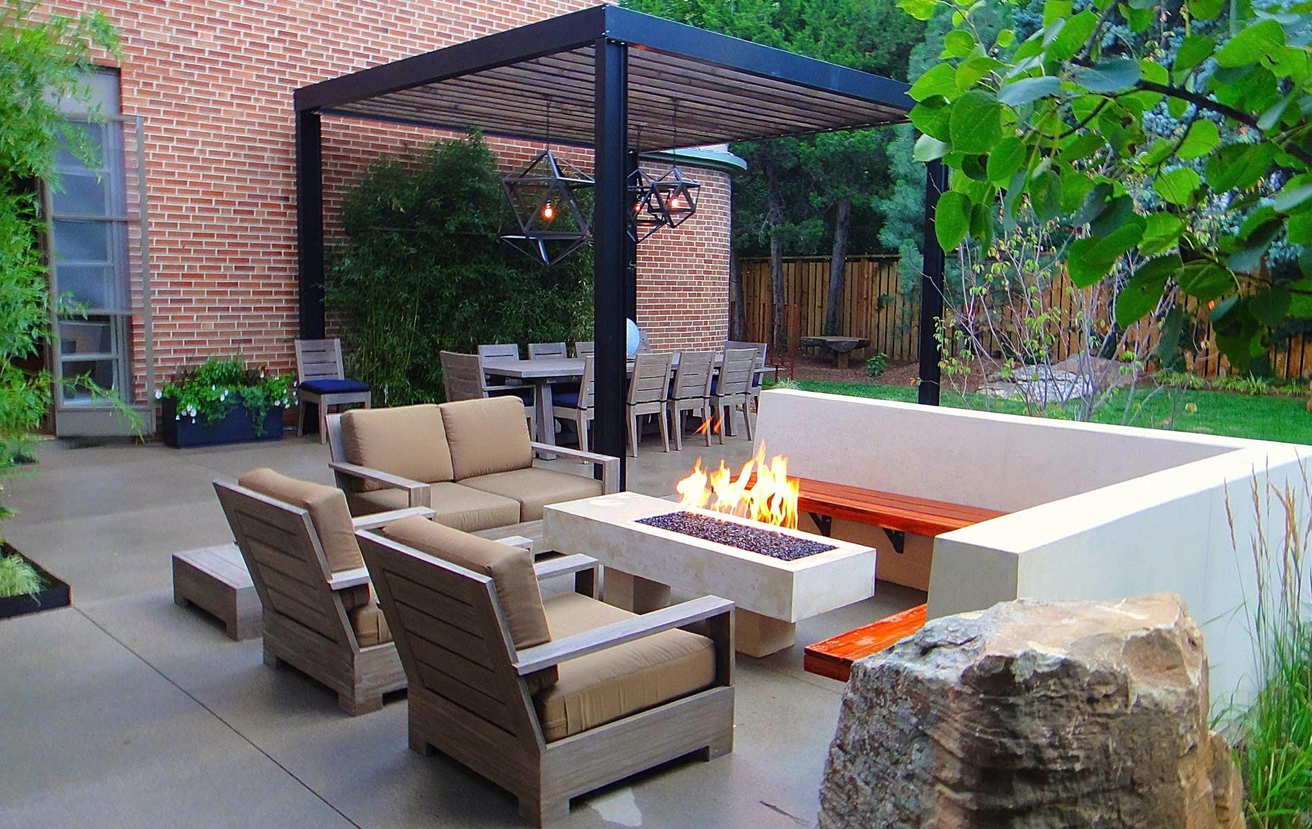 Sleek Modern Outdoor Living Space Park Hill Mile High